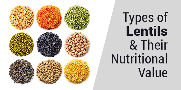 Lentil types and nutritional value